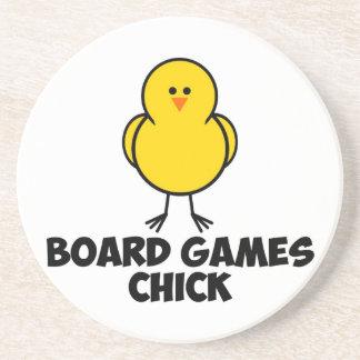 Board Games Chick Beverage Coaster