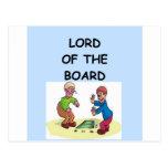 board games postcard