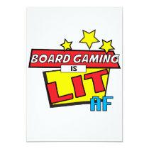 Board Gaming is LIT AF Pop Art comic book style Card