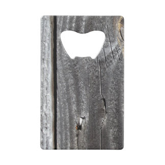 board in the fence credit card bottle opener