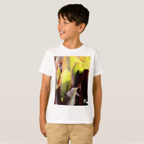board leaf pattern botanic theme kid's T-Shirt