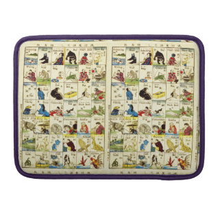 Board of Chinese alphabet MacBook Pro Sleeve