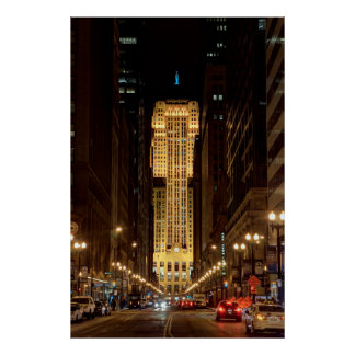 BOARD of TRADE BUILDING in CHICAGO Poster