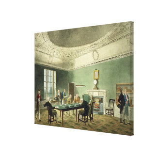 Board of Trade, from 'Ackermann's Microcosm of Lon Canvas Print