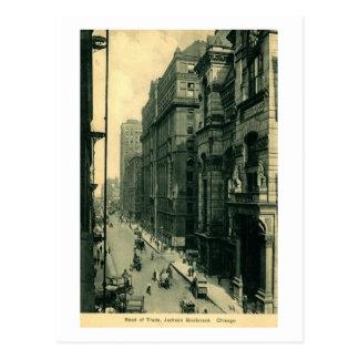 Board of Trade, Jackson Blvd. Chicago Vintage Postcard