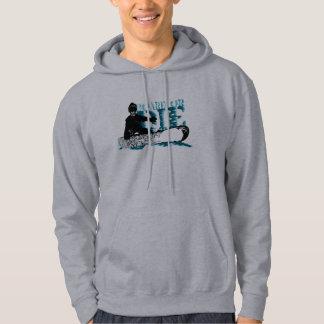 board or die. skeleboarder. hoodie