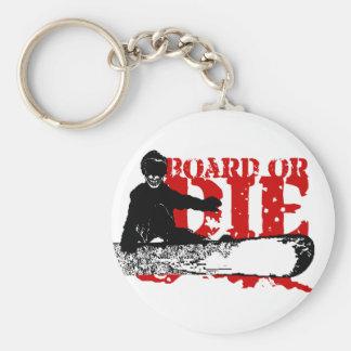 board or die. skeleboarder. keychain