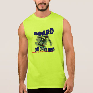 Board out of my mind sleeveless t-shirt