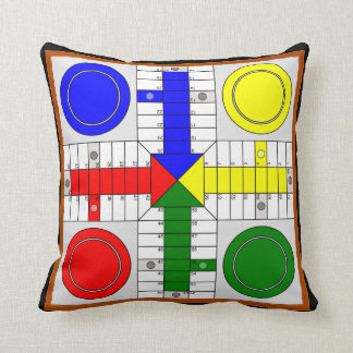 Board Parchis and the Oca Throw Pillow