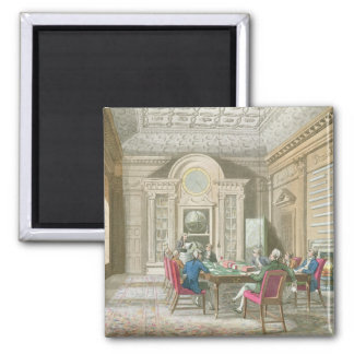 Board Room of The Admiralty, 1808 2 Inch Square Magnet