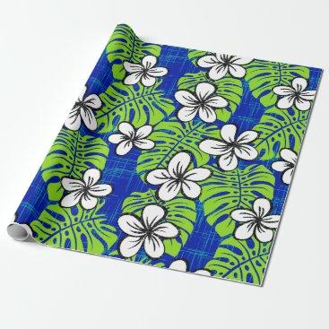 Beach Themed Board Short Garden - deep blue Wrapping Paper