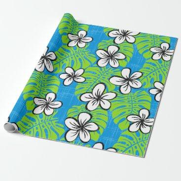 Beach Themed Board Short Garden - light blue Wrapping Paper