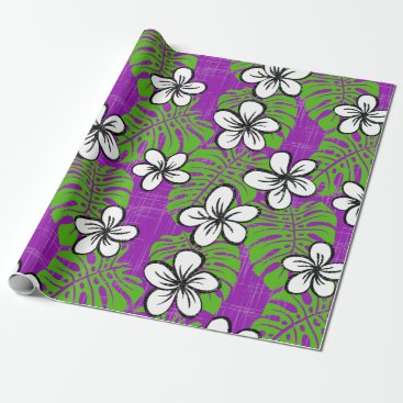 Beach Themed Board Short Garden - purple Wrapping Paper