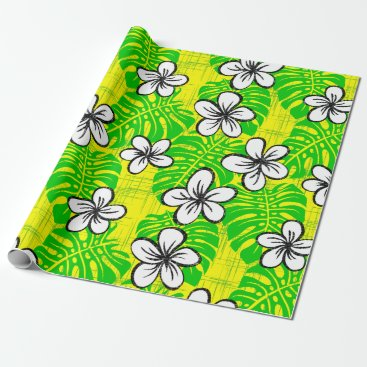 Beach Themed Board Short Garden - yellow Wrapping Paper