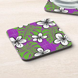 Board short purple beverage coaster