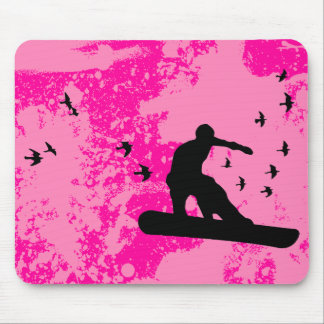 board with birds. mouse pad