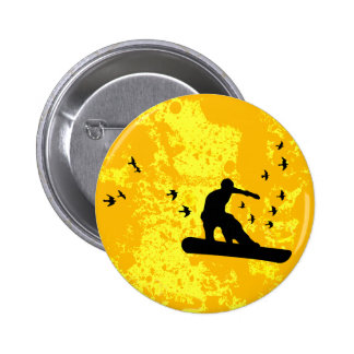 board with birds. pinback button