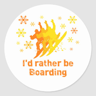 BoardChick bastante Pegatina Redonda