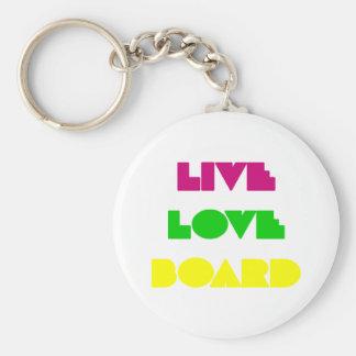 BoardChick Live Love Board Keychain