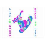 BoardChick Live To Board Postcard