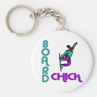 BoardChick Logo Keychain