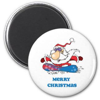 BoardChick Santa Merry Christmas Magnet