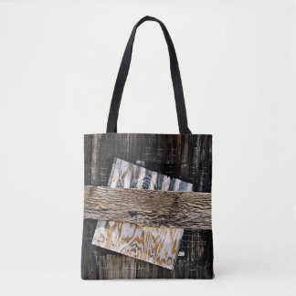 Boarded Up Old Wooden House Window Tote Bag