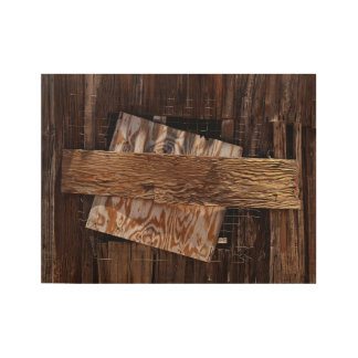 Boarded Up Old Wooden House Window Wood Poster