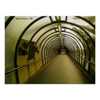 Boarded-up Pedestrian Tunnel, Manchester, UK Print