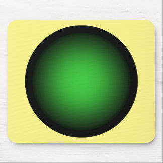 Boarder Template ~ Black Edges ~ Green Center Mouse Pad