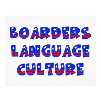 "Boarders Language Culture 8.5"" X 11"" Flyer"