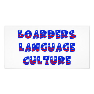 Boarders Language Culture Photo Greeting Card