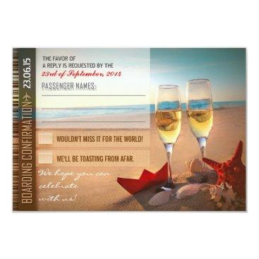 jinaiji boarding confirmation wedding RSVP cards - tickets