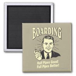 Boarding:Half Pipe's Good Full Better 2 Inch Square Magnet