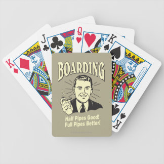 Boarding:Half Pipe's Good Full Better Bicycle Playing Cards