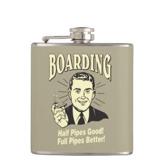 Boarding:Half Pipe's Good Full Better Flask