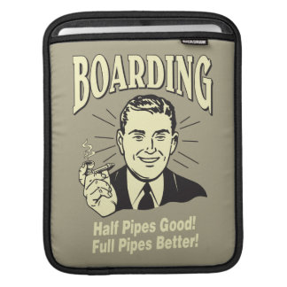 Boarding:Half Pipe's Good Full Better iPad Sleeve