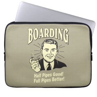 Boarding:Half Pipe's Good Full Better Laptop Sleeve