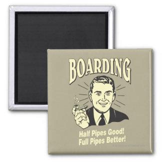 Boarding:Half Pipe's Good Full Better Fridge Magnets