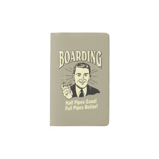 Boarding:Half Pipe's Good Full Better Pocket Moleskine Notebook Cover With Notebook