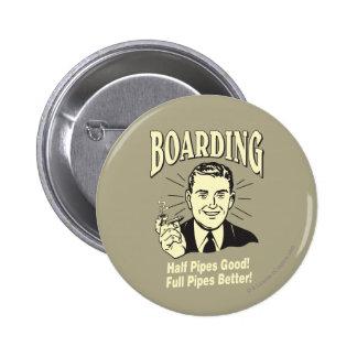 Boarding:Half Pipe's Good Full Better Pinback Button