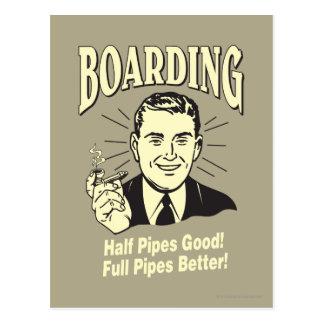Boarding:Half Pipe's Good Full Better Postcard