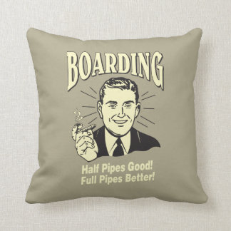Boarding:Half Pipe's Good Full Better Throw Pillow