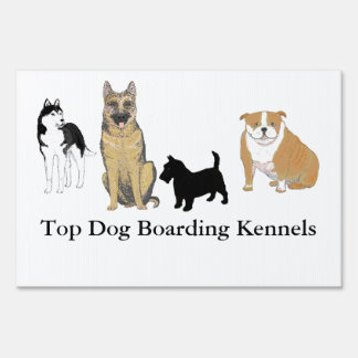 Boarding Kennel Signs various dog images