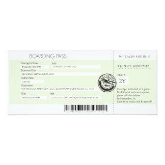Boarding Pass 4x9.25 Paper Invitation Card