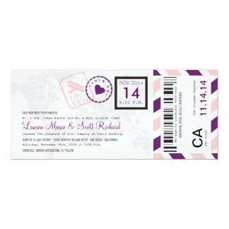 Boarding Pass Airmail Ticket Invitation