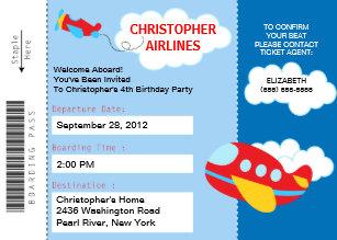 boarding pass birthday invitations zazzle