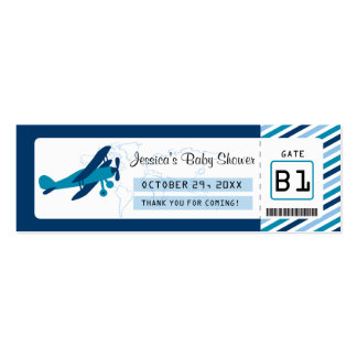 Boarding Pass Baby Shower Favor Tag Mini Business Card