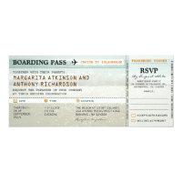 boarding pass beach waves wedding invites &amp; RSVP (<em>$2.57</em>)