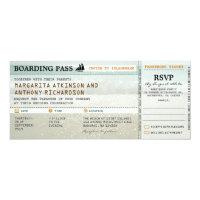 boarding pass beach waves wedding invites &amp; RSVP 4&quot; X 9.25&quot; Invitation Card (<em>$2.57</em>)